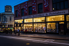 City Lights (Jim Nix / Nomadic Pursuits) Tags: california citylightsbookstore jimnix lightroom luminar nomadicpursuits sfo sanfrancisco skylum sony sony28mmf2 sonya7ii westcoast bluehour cityscapes landmark primelens streetscene travel