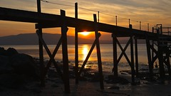 Sunset in Holywood (Capture the planet) Tags: holywood belfast ireland sunset sun beach jetty shore shoreline pier water tourist tourism fishing silhouette