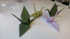 C'est moi qui l'ai fait ! (So_P) Tags: origami grue crane pliage