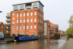 20190415 0060 Canal Boats and Appartments Diglis Basin Birmingham Canal Worcester (rodtuk) Tags: 4star boat building buildings england flipublic flickr house midlands phototype places rating rodt roderict roderickt uk vehboat vehicle wip worcester worcestershire