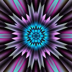 737 (MichaelTimmons) Tags: contemporaryart modernart fineart art digitalart artwork abstract digitalpainting blue purple pink kaleidoscope angles lines