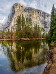 Misty Reflections of El Capitan (Greg Lundgren Photography) Tags: yosemite yosemitenationalpark nationalpark mercedriver elcapitan reflection hdr mist morning march spring california vacation travel sierranevada mountain freesolo anseladams yosemitevalley naturalbeauty nature