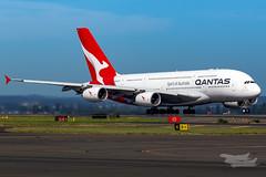 VH-OQC QF A380 34L YSSY-8712 (A u s s i e P o m m) Tags: sydney newsouthwales australia qantas qf qfa airbus a380 syd yssy sydneyairport