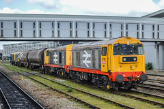 20132 and 20118, Derby (JH Stokes) Tags: 20132 20118 class20 railfreight livery derby trains trainspotting tracks transport railways locomotives photography