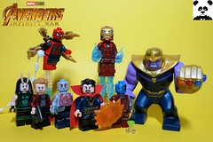 The Battle of Titan [Infinity War - #11] (HaphazardPanda) Tags: lego figs fig figures figure minifigs minifig minifigures minifigure purist purists character characters comics comic book books story group super hero heroes superhero superheroes marvel mcu avengers infinity war endgame captain america iron man spiderman machine falcon vision scarlet witch white wolf winter soldier okeye black panther shuri nomad widow thor bruce banner hulk groot guardians galaxy rocket raccoon gamora nebula doctor strange starlord quill drax mantis wong gauntlet stones thanos stormbreaker