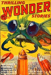 Thrilling Wonder Stories, Vol. 14, No. 3 (December 1939).  Cover Art by Howard V. Brown. (lhboudreau) Tags: pulpart magazine magazines pulpmagazine pulpmagazines pulpmagazineart magazinecover magazinecovers magazineart magazinecoverart pulp pulps pulpmagazinecover pulpmagazinecovers thrillingwonderstories thrillingwonder volume14number3 1939 december1939 howardvbrown howardbrown thrillingpublication sciencefiction beetlecover giantbug bug bugs insect beetle pulpfiction illustration drawing giant suicidesquad henrykuttner threeeternals eandobinder thethreeeternals coupdetat oscarjfriend colossalinsect colossalbug