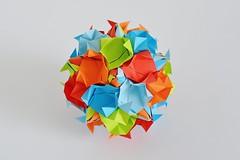 Genua Kusudama (Byriah Loper) (Byriah Loper) Tags: kusudama origami origamimodular modularorigami modular byriahloper byriah paperfolding paper polygon polyhedron pentagonal
