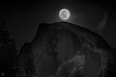 Moonrise over Half Dome 3 (lycheng99) Tags: moonrise halfdome yosemite yosemitenationalpark yosemitevalley landscape nature travel explore california nationalpark nationalgeographic snow winter moon fullmoon mountains nightphotography night