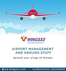 Airport Management & Ground Staff Service (Wingsss Aviation) Tags: airline airport mangement cabincrew ground staff