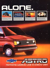 1985 Chevrolet Chevy Astro Van Page 2 USA Original Magazine Advertisement (Darren Marlow) Tags: