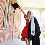 Grad Graduation Senior Portrait Pictures College Champagne cap gown decoration d… thumbnail