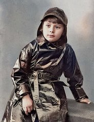 How to colour Black (theirhistory) Tags: boy child kid coat hat souwester raincoat mackintosh
