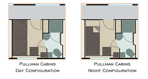 Eastern & Oriental Express Cabin Plan - Pullman
