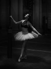 The Dancer (Twice Bitten) Tags: ballerina dancer girl moody night dark filmnior nior blackandwhite