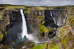 Waterfall Haifoss, Iceland (muphphoto) Tags: waterfall water iceland nature high power river stream icelandic rock green landscape fall tourism summer powerful landmark flow cliff mountain natural beautiful cascade europe outdoor beauty spray travel stone wild scenic island nordic motion attraction energy north drop scandinavian force tourist view famous large amazing national