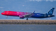"Alaska Airlines ""More To Love"" Airbus A321 NEO (Alex Dalton Photography) Tags: n926va airbus airbusa321 airbusa321neo a321neo moretolove alaskaair alaskaairlines ksfo sanfrancisco planespotting plane photography aviationphotography spotting nikon nikond750 airport sanfranciscoairport alaskamoretolove"