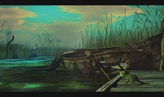 Feel Spring and breathe... (✰✰Nubyia Photography✰✰) Tags: luanesworld travel sl secondlife sim explore nubyia luanemeo landscape spring painting frog boat