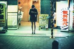 Waiting... (jaxting) Tags: jaxting fujifilm provia400x candid people japan 東京 tokyo street noctilux leicamp filmisnotdead istillshootfilm