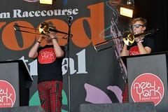 189-20180602_14th Wychwood Music Festival-Cheltenham-Gloucestershire-Main Stage-New York Brass Band-trombones (Nick Kaye) Tags: wychwood music festival cheltenham gloucestershire england