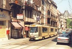 STIB-T55-2396-7933-29-07-1991 (phi5104) Tags: trams belgië belgique brussel bruxelles mivb stib ligne55