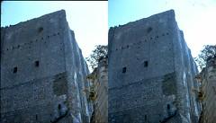 Batch E 0136 (dizzygum) Tags: vintage stereo 3d slide image france 1960 keep loches castle