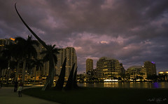 After sunset at Brickell. (Aglez the city guy ☺) Tags: miamifl downtownmiami downtown waterways walking walkingaround river lateafternoon architecture afternoon building art urbanexploration outdoors cityscapes clouds colors