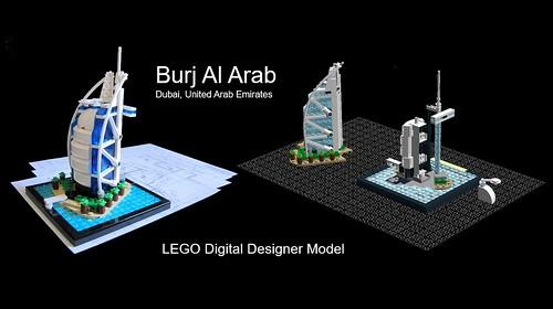Burj Al Arab LEGO Digital Designer - a photo on Flickriver