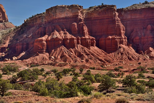 Layer Upon Layer of Rock Showing Eras in the Earth and History (Capitol Reef National Park)