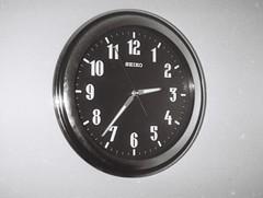Clock (Matthew Paul Argall) Tags: hanimex110if fixedfocus 110 110film subminiaturefilm lomographyfilm 100isofilm blackandwhite blackandwhitefilm clock seiko wallclock