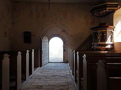 Church interior at Stevns Klint in Denmark (albatz) Tags: denmark church interior chalkcliffs stevnsklint edge ocean