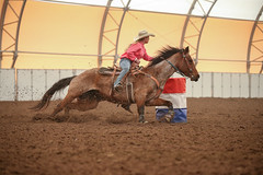 Justin (wysharp) Tags: barrelracing cowgirl horse