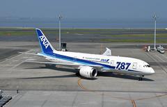 ANA JA818A, Boeing 787-8 at HND (tokyo70) Tags: japan travel tour tokyo ana 787