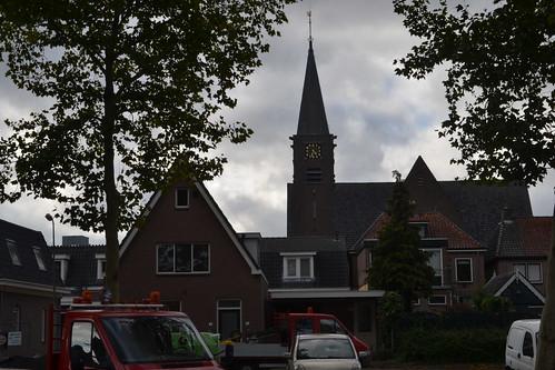 Gereformeerde Kerk Ommen en omliggende huizen (135FJAKA_1963)