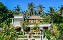 Eco resort on Lombok Island, Indonesia (phuong.sg@gmail.com) Tags: background beach beautiful blue branch cloud coconut day exotic foliage green holiday hot idyllic island landscape leaf light lush natural nature outdoor palm paradise photo plant relax resort root scene scenery sea season sky summer sun sunlight sunny tall tourism travel tree tropic tropical vacation view