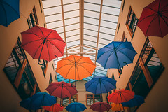 Superstition (Pietro__c) Tags: superstition umbrella umbrellas indoor breda brabant easter colorful architecture window netherlands nederland symmetry nikon nikond7200 nikkor d7200 18mm 1855mm 2019