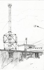 Chimney (Bohdan Tymo) Tags: pencildrawing urban structure chimney