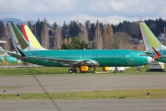 B737 N918BA Renton Seattle 23.03.19 (jonf45 - 5 million views -Thank you) Tags: airliner civil aircraft jet plane flight aviation renton municipal airport seattle boeing 737 factory 7378 max n981ba ei air italy