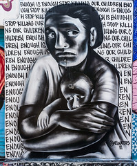 enough is enough (pbo31) Tags: sanfrancisco city nikon d810 color april 2019 boury pbo31 spring missiondistrict art mural alley protest activism panorama stitched large panoramic empathy mother child