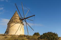 Spain - Almeria - Nijar - San Jose - Los Genoveses windmill (Marcial Bernabeu) Tags: marcial bernabeu bernabéu south sur europe europa spain españa andalusia andalucia andalucía almeria almería nijar níjar jose josé genoveses collado molino antiguo old windmill cabo gata