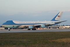 92-9000 Boeing VC25A 89AW/PAS  MIA (Jetstar31) Tags: 929000 boeing vc25a 89awpas mia