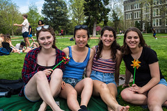 Pinwheel Day (haverford_college) Tags: 2000s 2010s 2019 activity all allrights annual april bush cole color colorful exterior foliage foundes grass green greenery horizontal leaves outdoors outside pinwheel pinwheels rights sansom spring student tradition tree trees