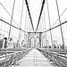 Brooklyn Bridge pedestrian walkway (drawing filter)
