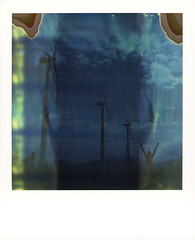Annimill (tobysx70) Tags: polaroid sx70 timezero time zero tz expired 1206 instant film roidweek roid week polaroidweek spring april 2019 annimill wind farm san gorgonio park palm springs california ca anne woman portrait nude naked windmill windfarm turbine green energy vanishing point silhouette mojave desert polaroadtrip polawalk 030818 day4 toby hancock photography