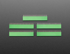 "20-pin 0.1"" Female Header - Green - 5 pack (adafruit) Tags: 20pin 20pinheaders 20pinfemaleheaders headers femaleheaders electronics accessories addons adafruit new newproducts projects diy diyelectronics diyprojects"