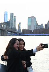 Brooklyn Bridge Selfie! (Anthony Mark Images) Tags: candid nyc newyorkskyline newyork brooklynbridgepark brooklynbridge beautifulwomen prettygirls asiangirls selfies cellphonephotographers smiles tourists fun people portrait nikon d850 flickrclickx
