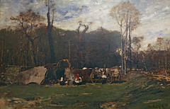 Gypsies at the Forest Edge by M MUNKACSY 1873 127c (Andras Fulop) Tags: szolnok hungary canon art painting museum gallery exhibition gypsy forest