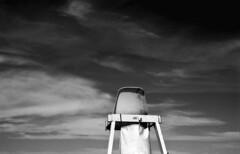 Untitled (Manuel Goncalves) Tags: nikonfg20 nikkor50mmf18 fujineopanacros100 blackandwhite 35mmfilm analogue epsonv500scanner beach sea santos brazil standdevelopment redfilter