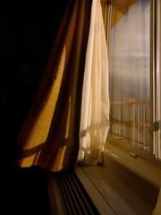 Window at Sunset (arbyreed) Tags: arbyreed window sunset windowwednesday windowcurtain blowing curtain explore