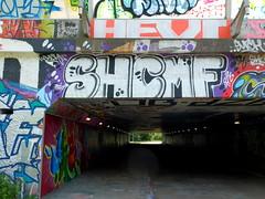 Overschie - SHC-CMF (oerendhard1) Tags: graffiti streetart urban art rotterdam oerendhard tunneltje underpass overschie vandalism illegal throw ups tags shc cmf surch