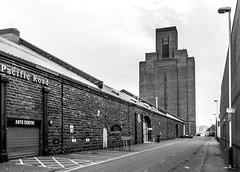 Pacific Road (Philip Brookes) Tags: birkenhead pacificroad wirral merseyside road building ventilation architecture monochrome england britain